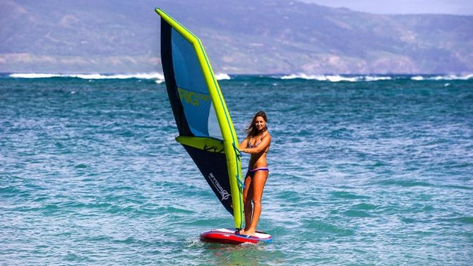 arrows inflatable windsurfing rig