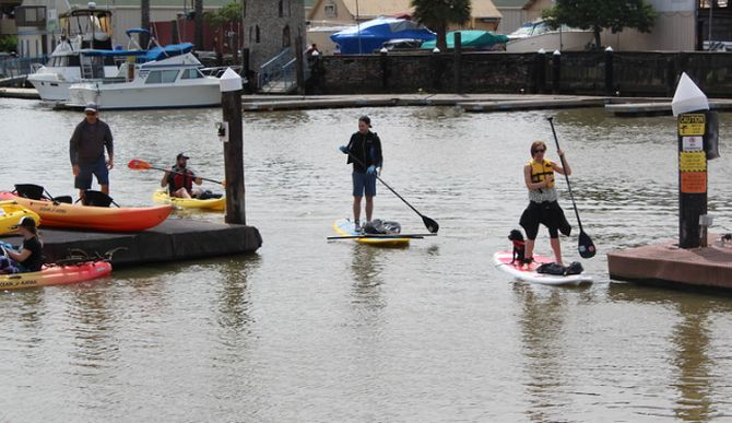 Earth Day Clean up by paddleboard and kayak