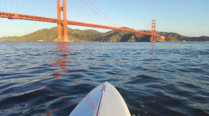 Stand Up Paddling under the Golden Gate!