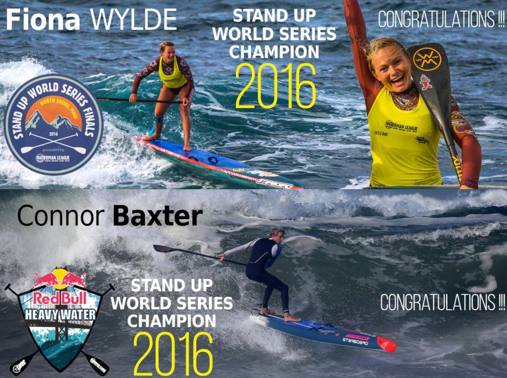 Connor Baxter and Fiona Wylde 2017 Stand Up Paddleboarding World Champions