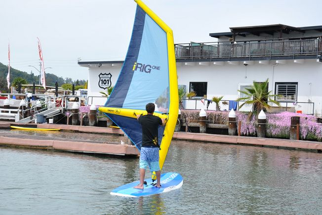 Lightest windsurfing rig ever!