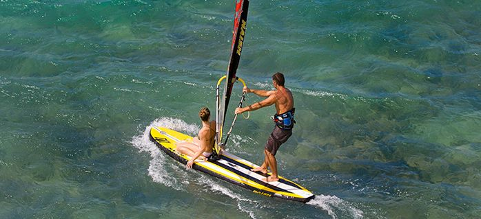 Naish Crossover Stand Up Paddleboard and Windsurfer - Its INflatable