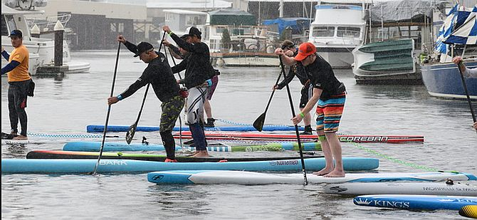 Stand Up Paddlerboard Racing on San Francisco Bay