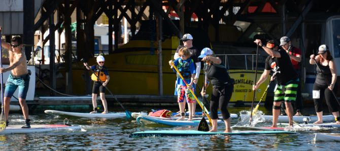 Stand Up Paddlebaord Racing on San Francisco Bay