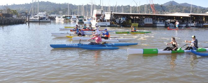Outrigger Canoes blast off the starting line