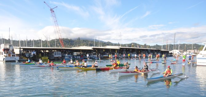 Paddle Racing on San Francisco Bay