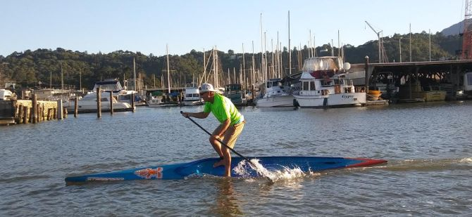 Starboard 17'6 Unlimited Stand Up Paddleboard on the rail!