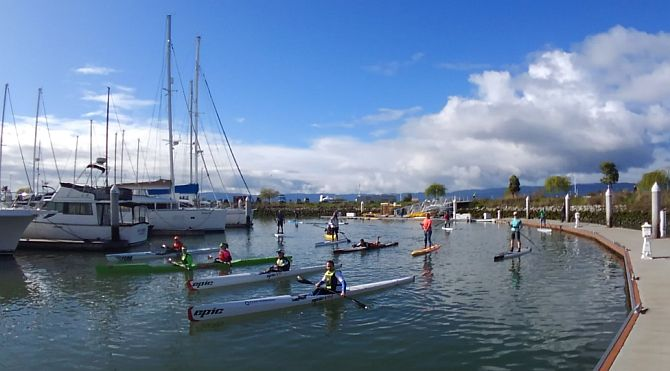 Redwood City Surfski and Paddleboard race March 17 2018