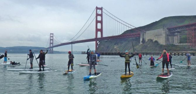 Long Distance Stand Up Paddleboarding on San Francisco Bay