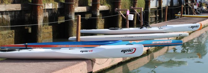 Epic Surfskis alongside Starboard Sprint and SIC x14 pro-lite - Speed!