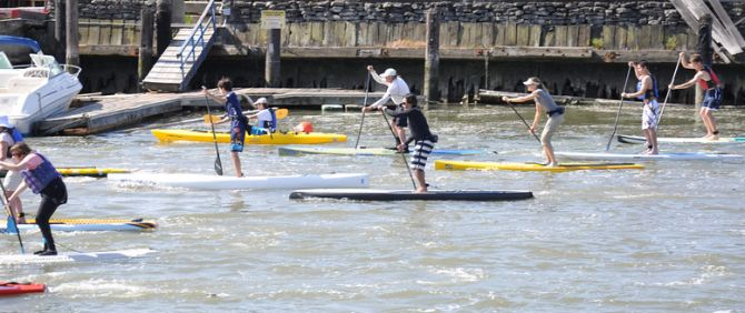 Stand Up Paddleboard Racing San Francisco Bay with 101 Surf Sports