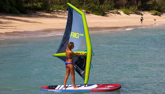 Inflatable Windsurfing Rig - Great for teaching yourself to windsurf