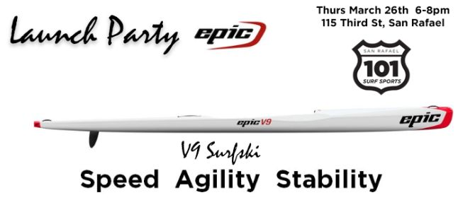 launch party epic v9 surfski