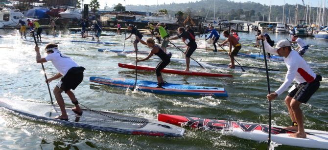 Stand Up Paddleboard Racing in San Rafael