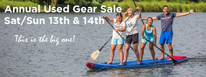 annual used paddleboard sale