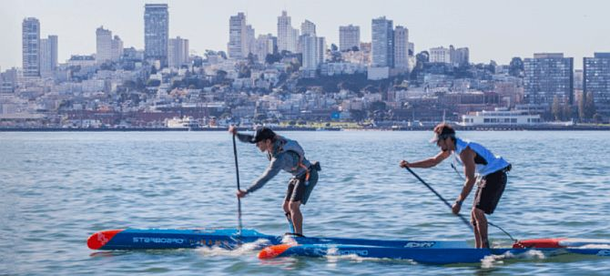 Battle of the Bay paddle racing