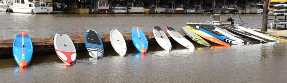Used Starboard, Naish, SIC Maui and Jimmy Lewis Stand Up Paddleboards