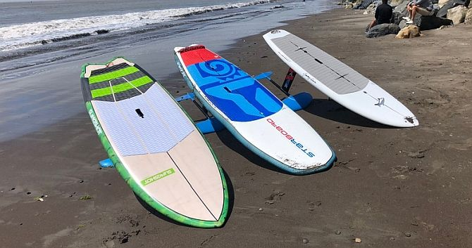 slingshot, starboard, and Jimmy lewis foilboards