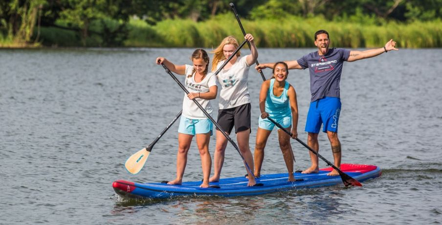 Inflatable Stand Up paddleboards for more than one person!