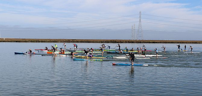 outrigger canoe and surfski racing in san francisco bay