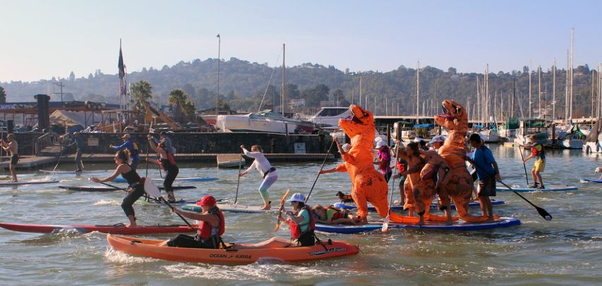 The Leukemia Lymphoma SUP Cup Paddle Race at 101 Surf Sports
