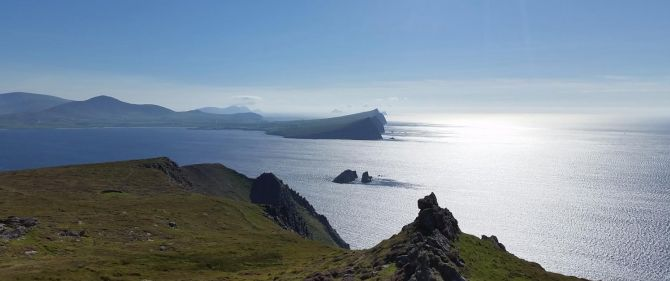 irelands majestic cliffs can be seen best by paddle
