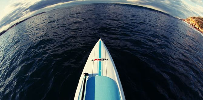 Stand Up Paddle surfing with NSP and 101 Surf Sports