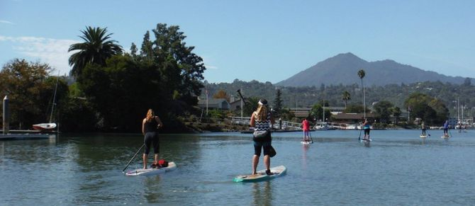 Corporate Team Building with paddling and kayaking
