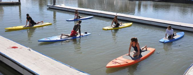 Yoga on Stand Up Paddleboards in Marin County